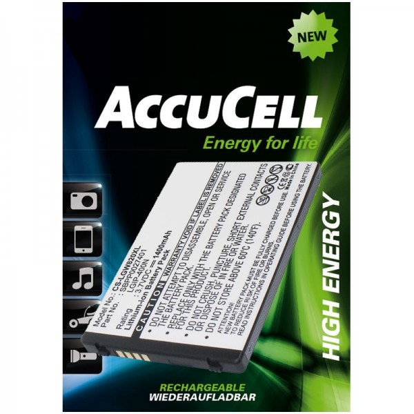 AccuCell Li-ion vervangende batterij geschikt voor LG Ally VS740, Etna, eXpo GW820