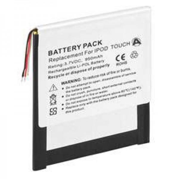 AccuCell-batterij geschikt voor Apple iPOD touch 8G, 4G, 616-0343
