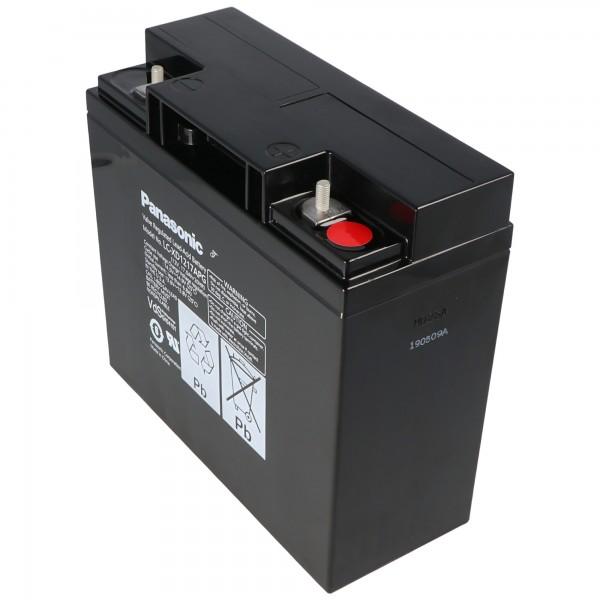 Panasonic LC-XD1217APG loodzuurbatterij PB 12 volt 17000 mAh, M5-schroefverbinding