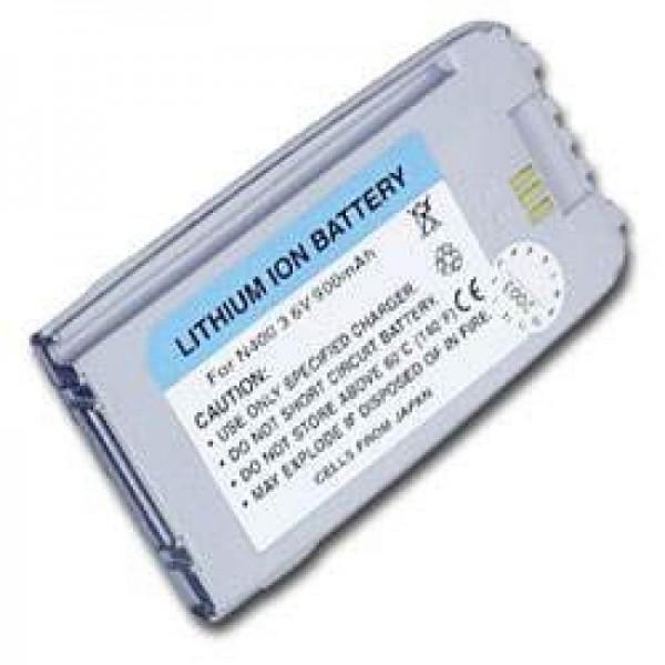 AccuCell-batterij geschikt voor Samsung SGH N400, parelmoer zilver