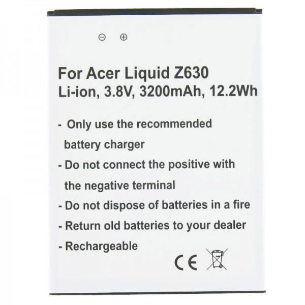 Batterij geschikt voor de Acer Liquid Z630 batterij BAT-T11, KT.0010S.018