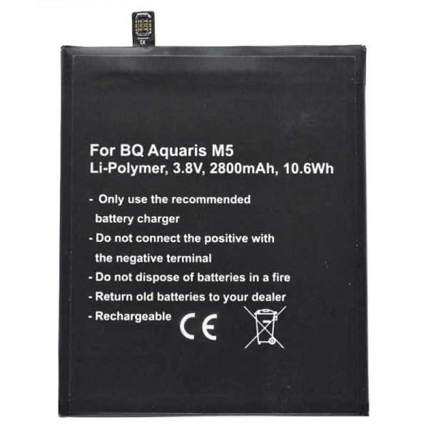 Batterij geschikt voor BQ Aquaris M5 batterij BQ Aquaris 3120