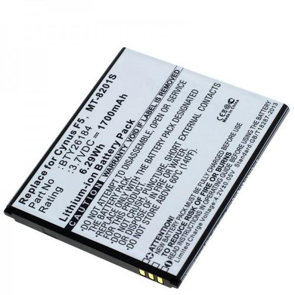 Batterij geschikt voor de Mobistel Cynus F5 batterij MT-8201B, MT-8201S, MT-8201W, 1700mAh