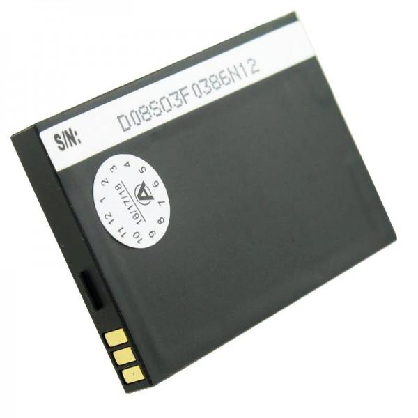 AccuCell batterij geschikt voor mobiele telefoon batterij Swissvoice MP01 batterij TJB-1