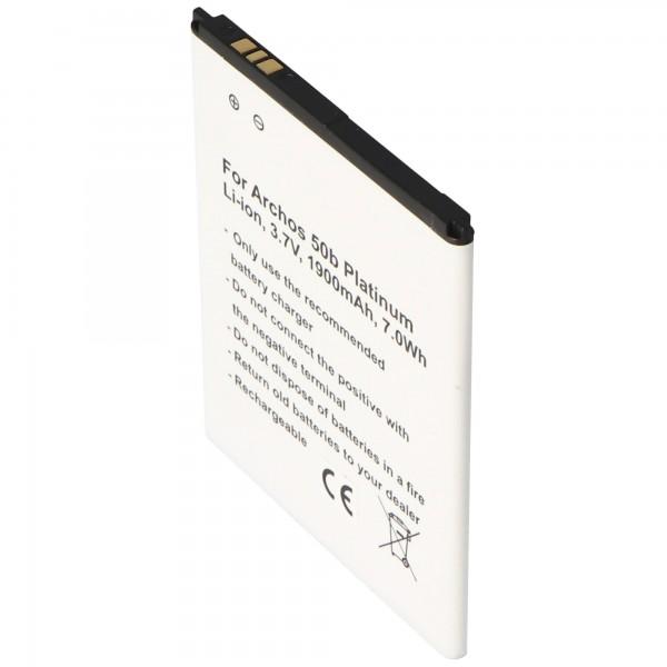 Batterij geschikt voor de Archos AC50BPL batterij Archos 50b Platinum, 73.0 x 60.0 x 4.0mm