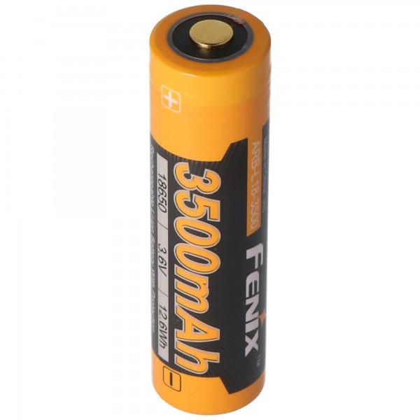 Panasonic 18650 Li-ionbatterij met 3500 mAh en drievoudig beschermingscircuit, 68,66 x 18,4 mm