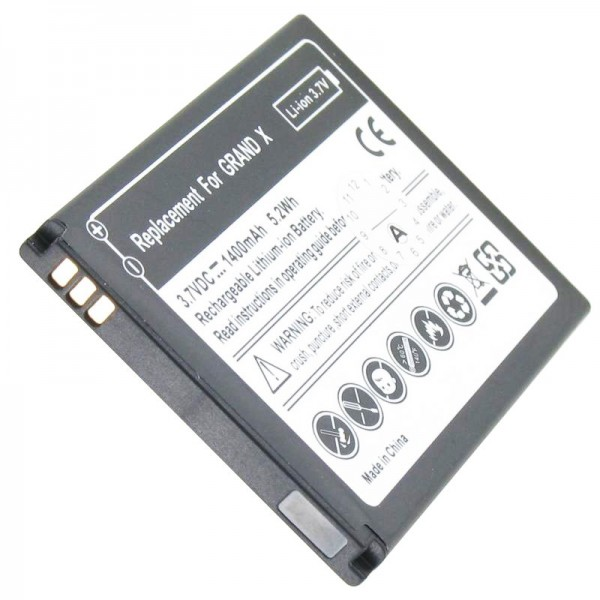 Batterij geschikt voor ZTE Grand X batterij Li3716T42P3h594650, ZTE Blade 3