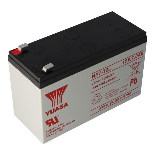 YUASA NP7-12L accukabel PB 12 volt 7000 mAh met 6,3 mm contacten