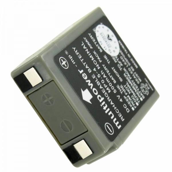 Multipower MP0.5-4 batterij PB-kabel, 4 volt 500 mAh met K-contact MP0.5-4 batterij