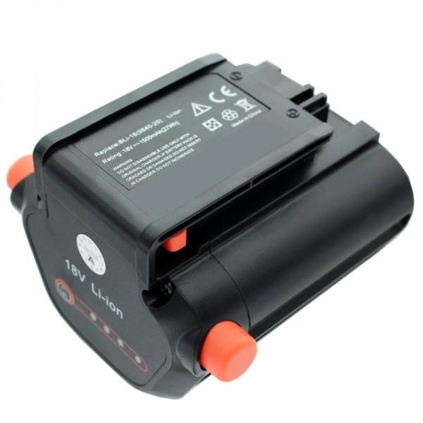 Accu geschikt voor Gardena Accu heggenschaar EasyCut Li-18/50 Gardena 09840-20 batterij 1500mAh