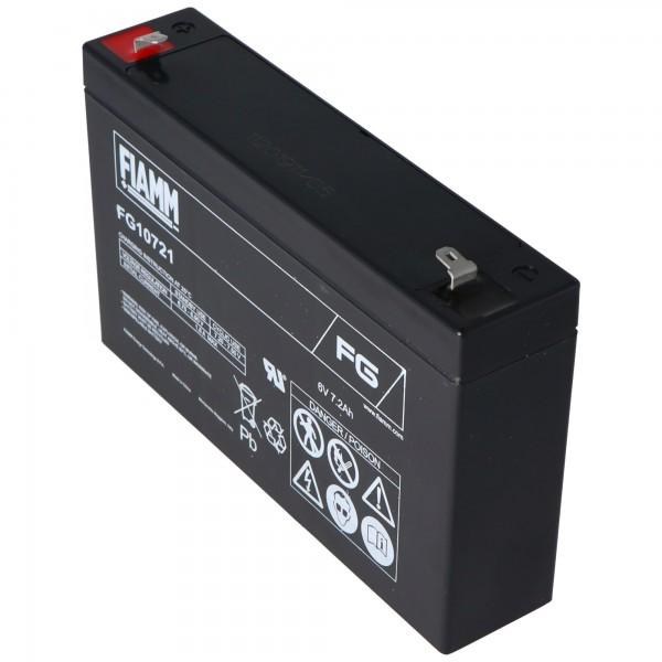 Fiamm FG10721 loodbatterij 6 volt 7.2Ah