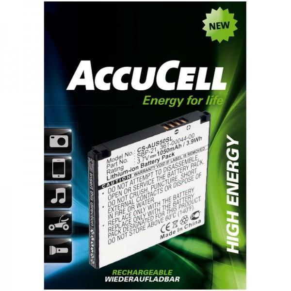 AccuCell-batterij geschikt voor Garmin-Asus Nüvifone A50, Garmin Fone