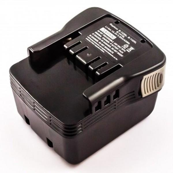 AccuCell-batterij geschikt voor de Ryobi B-1415L-batterij 14,4 volt, 3,0 Ah