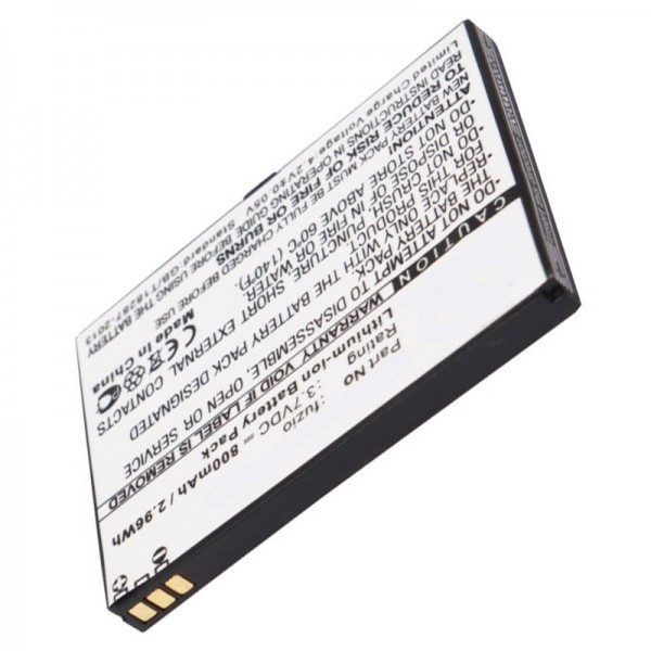 AccuCell-batterij geschikt voor WiKo Fuzio-batterij met 800 mAh
