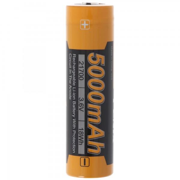 21700 Fenix ARB-L21-5000 Li-ionbatterij 21700, 76x21,5 mm groot