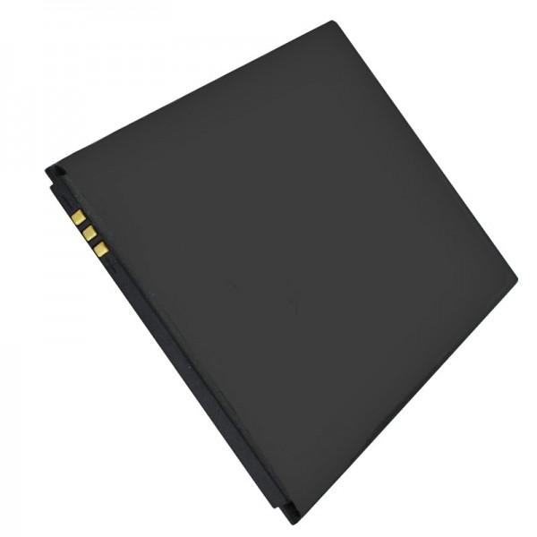 Accu geschikt voor de Wiko RIDGE FAB batterij, RIDGE FAB 4G, 5320, 5320B, 5260