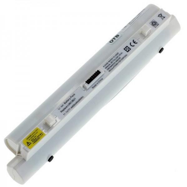 Accu geschikt voor Lenovo IdeaPad S9 en IdeaPad S10 4400mAh wit