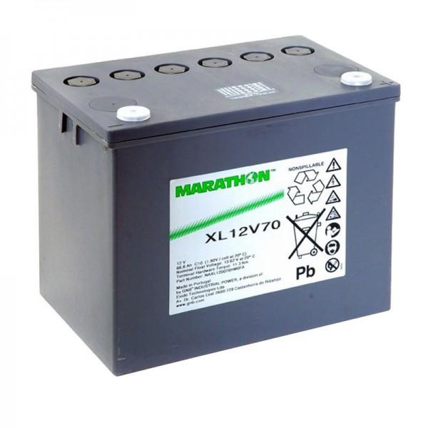 XL12V70 Exide Marathon-batterij 12 volt 66600mAh M6-schroefverbinding