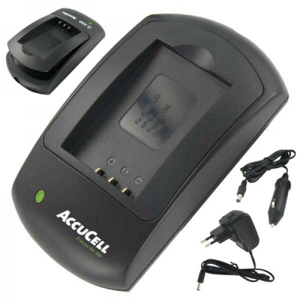 AccuCell snellader geschikt voor Rollei XS-10 in touch-batterij
