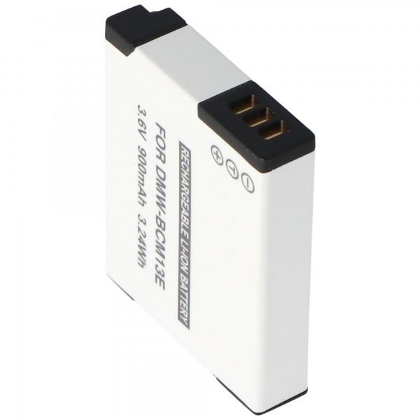 Accu van DMW-BCM13-kwaliteit van AccuCell geschikt voor Panasonic DMW-BCM13E-accu 3,7V, laadspanning max. 4,2 volt