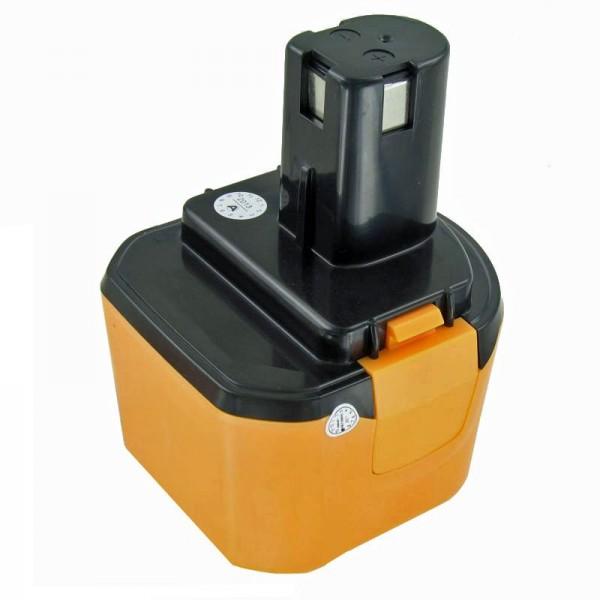 AccuCell-batterij geschikt voor Ryobi 1400651 batterij 9,6 volt NiMH 3Ah