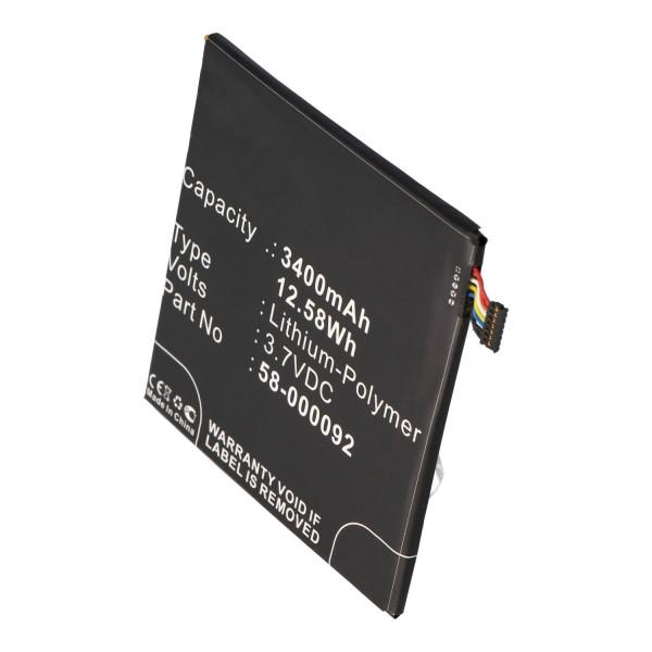 Accu geschikt voor Amazon Kindle Fire HD 6, ST06, 26S1006, 58-000092 3,7 volt 3400mAh