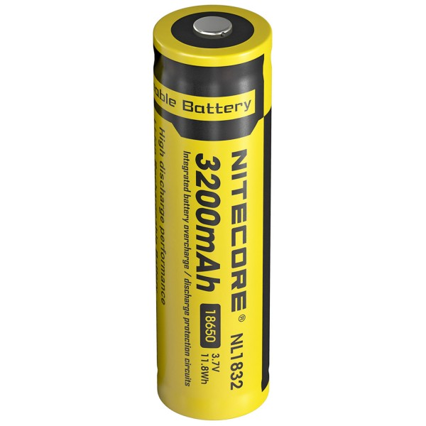 NC-18650/32 Nitecore NL1832 3,7 Volt 3200mAh 11,8 Wh Let op afmetingen 69x18,6mm