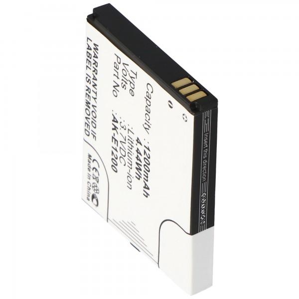 AccuCell-batterij geschikt voor Emporia TELME E1000, E1200, C121, AK-E