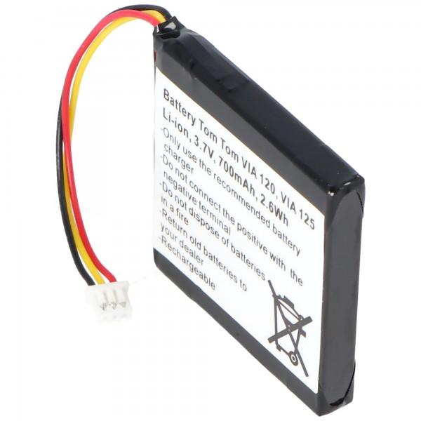 Batterij geschikt voor TomTom 4EH51, VIA 120, VIA 150, VIA Live
