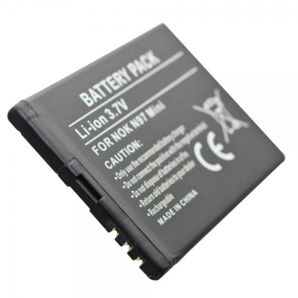 AccuCell-batterij geschikt voor Nokia N97 Mini, BL-4D