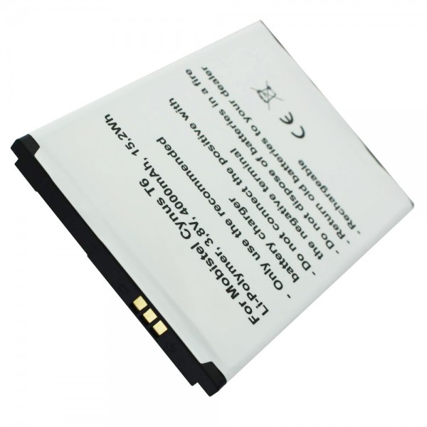 MOBISTEL Cynus T6-batterij als replica van Accucell geschikt voor BTY26187