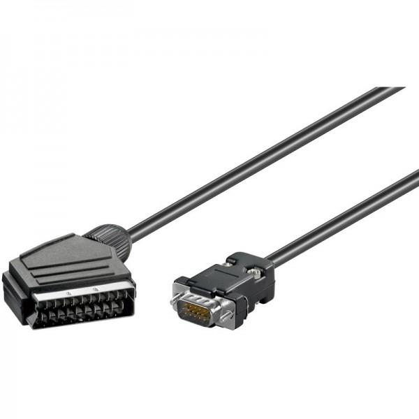 Scart-kabel 7,5 meter 15-pins connector met hoge dichtheid