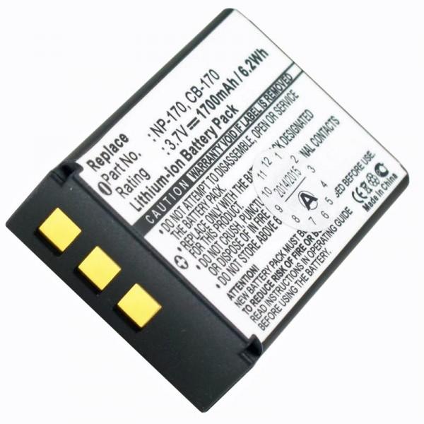 AccuCell-batterij geschikt voor Aiptek CB-170, NP-170, 084-07042L-062