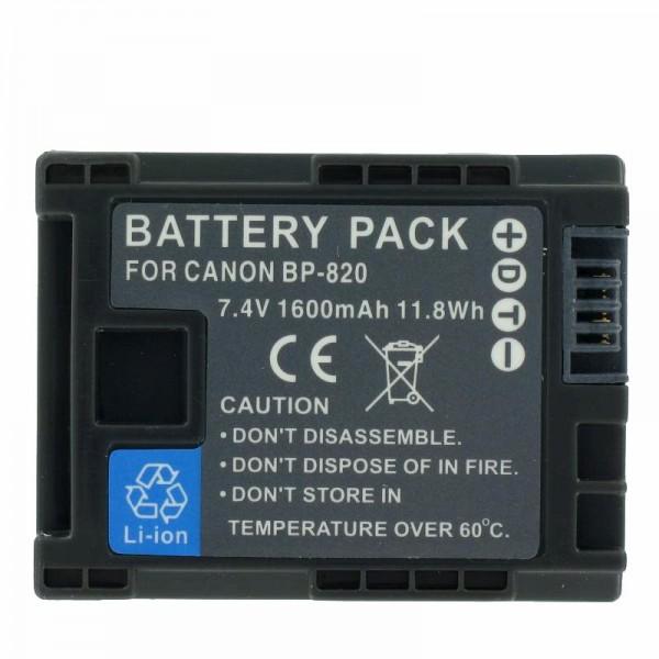 Canon BP-820 vervangende batterij voor Canon Vixia HF G30, XA20, XA25 (geen originele Canon-batterij)