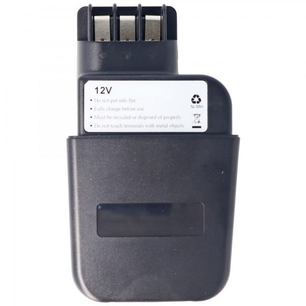 Batterij geschikt voor Metabo 6.30071, 6.31723, 12V, 2.0Ah NiMH
