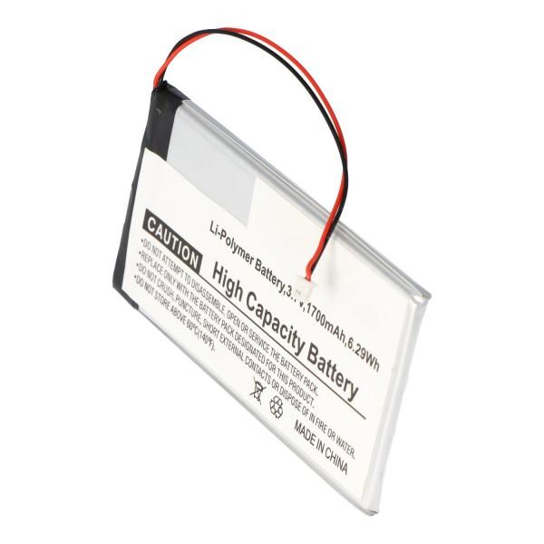 Batterij geschikt voor Iriver I600, 1700mAh