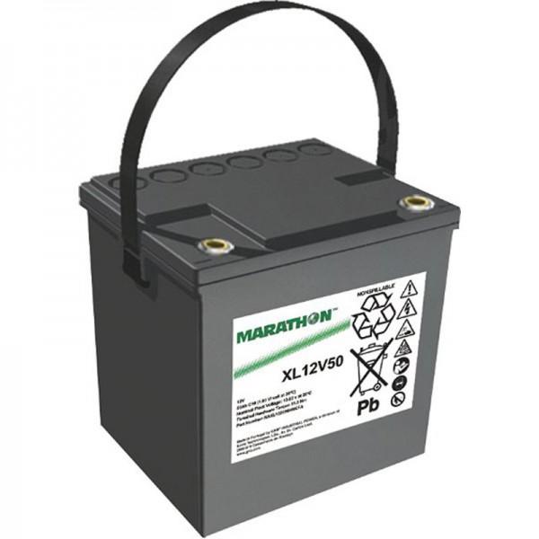 Exide Marathon XL12V50 batterij PB lood onderhoudsvrij 12 volt, 50Ah