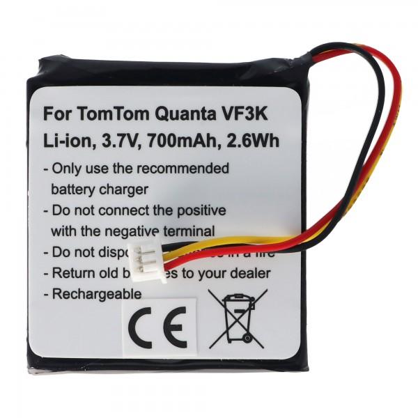 Batterij geschikt voor de TOMTOM Quanta batterij VF3K, VF3, FM68360420759