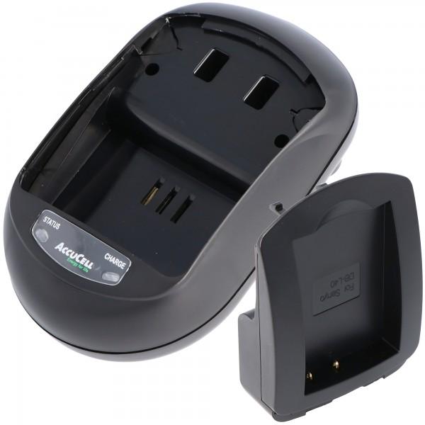 AccuCell-lader geschikt voor Sanyo DB-L40-batterij, Xacti DMX-HD1