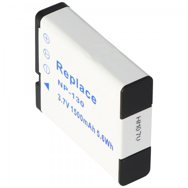 AccuCell-batterij geschikt voor Casio NP-130, Exilim EX-H30, EX-ZR100