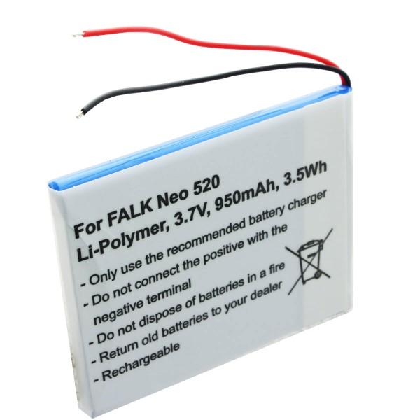 Batterij geschikt voor Falk Neo 520, Neo 520LMU batterij SR404255