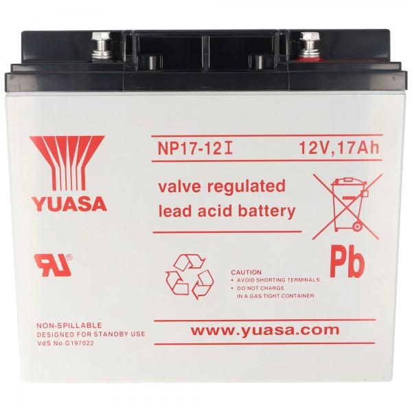 Yuasa NP17-12I met M5-schroefverbinding