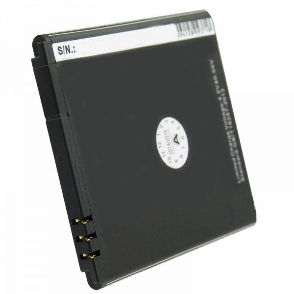Batterij geschikt voor Simvalley SP-140, vervangende batterij PX-35234, PX-3524-675