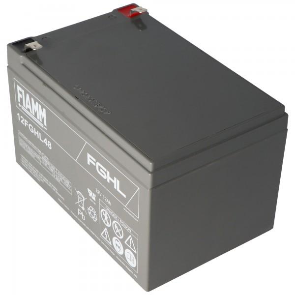 Fiamm 12FGHL48 lood PB-batterij 12 volt 12000 mAh met Faston-contacten van 6,3 mm