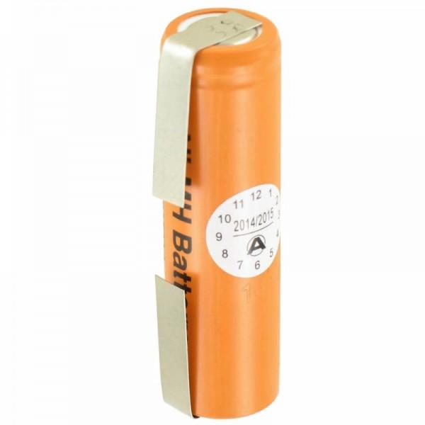 Panasonic batterij HHR-150AAF9 Ni-MH 1.2Volt 1500mAh met soldeerlip U-vorm