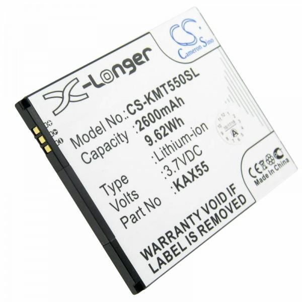 Accu geschikt voor Kazam Trooper X5.5, KAX55-BKBAK007752 3.7 volt 2600mAh