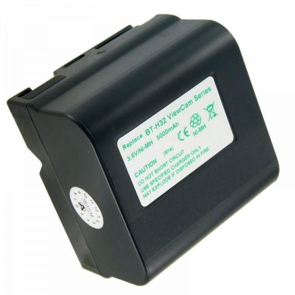 AccuCell-batterij geschikt voor Sharp BT-H22, BT-H32U, BT-H22U, BT-H21, BT-H32, 5000mAh