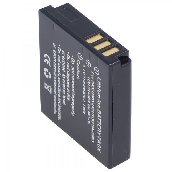 AccuCell-batterij geschikt voor Leica BP-DC4, D-LUX 2-batterij