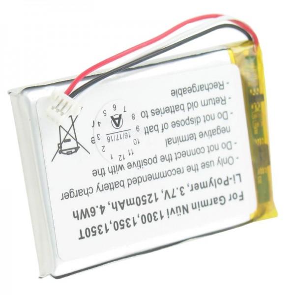 Batterij geschikt voor Garmin Nuvi 1300, 1350, 1350T, 1370, 1370T