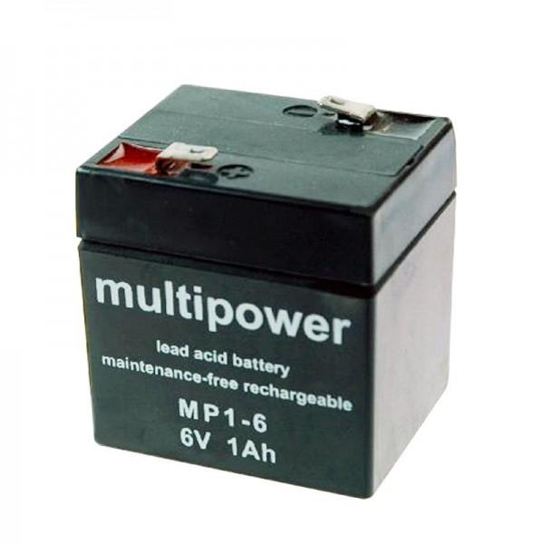 Sonnenschein batterij Dryfit A206 / 1.0S, lood, aansluiting 4,8 mm (niet langer beschikbaar, maar alternatief artikel)